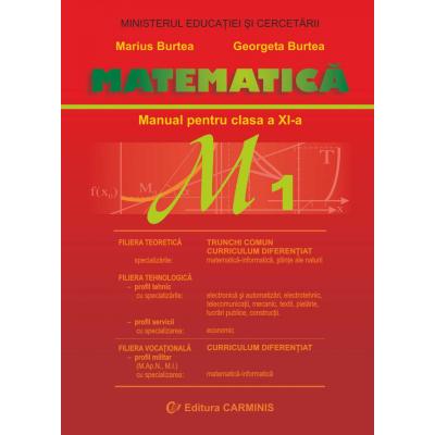 MATEMATICA. MANUAL PENTRU CLASA A XI-A. M11/1